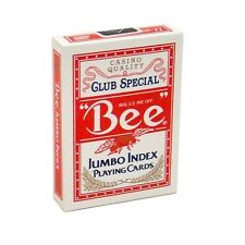 1 Deck Bee Jumbo Index Poker Playing Cards Red Brand New Deck Casino Quality