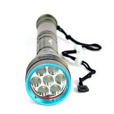 20000LM 7x XM-L L2 LED 18650/26650 Diving Scuba Flashlight Torch Underwater 200m