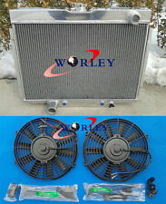 FOR 1967-1970 Ford Mustang / Mercury Cougar/XR7/Torino ALUMINUM RADIATOR + FANS