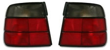 RED black smoked finish tail rear lights set for BMW 5 series E34 88-95