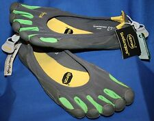Men's~Vibram 5 Fingers~Barefoot Running Shoes~Gray/Green~Sz 46~US 12- 12.5~NWT