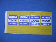 4 vintage Duckhams motor oil service decal ,Rolls Royce,Bentley,jaguar, england