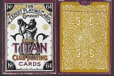 1 DECK Global Titan Club Classic Gold playing cards