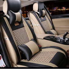 10PCS Full Set PU Leather Front Rear Car Seat Cushion Cover For Hyundai Elantra