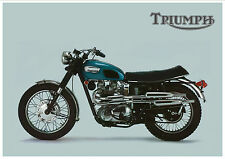 TRIUMPH Poster TR6 Tiger TR6C Trophy 1968 USA Suitable to Frame