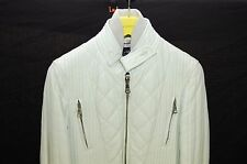 SUPER GORGEOUS !!! DOLCE&GABBANA  QUILTED LAMB LEATHER WHITE JACKET EU 46 US 36