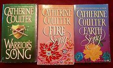CATHERINE COULTER BOOKS 1-3 SONG/MEDIEVAL SERIES 1st Editions Historical Romance