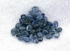 TWO 3x2 3mm x 2mm Oval Natural Blue Sapphire Cabochon Cab Gem Stone Gemstone