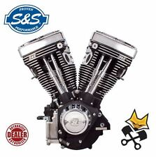S&S V80 LONG BLOCK MOTOR ENGINE FOR 1984-99 HARLEY EVO 310-0233 BLACK
