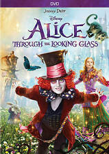 NEW ALICE THROUGH THE LOOKING GLASS DVD 2016*Adventure, Family* NOW SHIPPING !
