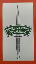 "ROYAL MARINES COMMANDO DAGGER VINYL STICKER 6"" 7-10 YEAR VINYL"