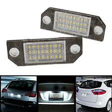 2Pcs White 24 LED Car Number License Plate Light Lamp for Ford Focus C-MAX MK2