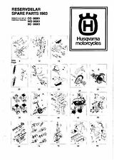 Husqvarna Parts Manual Book 1983 WR 125, XC 125, CR 125, WR 240 & CR 240