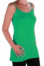 Womens Plain Sleeveless Strappy Casual Camisole Cami Vest Blouse Tank Tops
