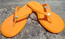 BC BG GENERATION ORANGE PLASTIC THONG FLIP FLOPS W/GOLD TONE MEDALLION SZ 9 B