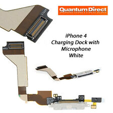 NEW Replacement FOR iPhone 4 4G Charging Dock/Port Assembly + Microphone - WHITE