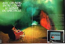 PUBLICITE   1984   GRUNDIG    téléviseur MONOLITH  ( 2 pages)
