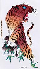 Tatouage  temporaire Tigre Lion 1 stickers body art