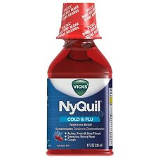 Vicks Nyquil Cold - Flu Nighttime Relief Liquid, Cherry Flavor 8 oz