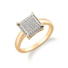 18K REAL PLATINUM GOLD PLATED SQUARE RING SIZE 8(Q) MADE WITH SWAROVSKI CRYSTALS