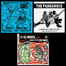 "7"" Value Pack! ATOMIC SUPLEX/THEEE BAT & THE FADEAWAYS & ED WOODS/LOS CHAMPIONS"