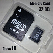 32GB Class 10 Micro SD Card TF Flash Memory Card MicroSDHC with Adapter