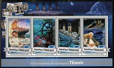 TOGO  2017  105th  ANNIVERSARY OF THE TITANIC SINKING SHEET MINT NH