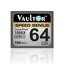 NUOVO vaultor Extreme Speed 64GB 1066X CF Compact Flash Memory Card - 160MB / s