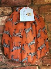DALMATION DREAM DOG ORANGE/ WHITE TRIM ANIMAL QUIRKY SUMMER  SCARF WRAP NEW GIFT