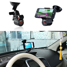 Car Multi-functional FM Transmitter Hands-Free 360° Rotatable Holder For iPhone