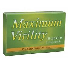 Maximum Virility 10 Capsules Herbal Pills DragonExtra Strong Strength | S