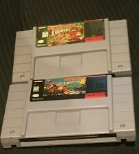 Nintendo Snes Donkey Kong Country and coutry 3, Super Mario World