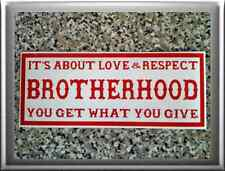 "HELLS ANGELS Support 81 Sticker ""It's all about Love & Respect: BROTHERHOOD"""""