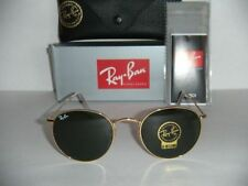 NEW Ray Ban Sunglasses 3447 001 round Metal Johan Lennon Gold Frame green lens