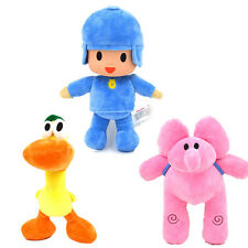 3pcs/Set Bandai Pocoyo Elly Pato Soft Plush Stuffed Figure Toy Doll