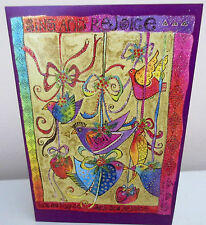 Laurel Burch Sing and Rejoice Birds  Magical Christmas Cards Box 10 Card