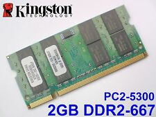 2GB DDR2-667 PC2-5300 200pin KINGSTON LAPTOP NOTEBOOK SODIMM RAM MEMORY SPEICHER