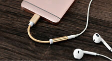 Lightning to 3.5mm Aux Headphone Adapter Cable For Apple iPhone 7 / 7 Plus Gold