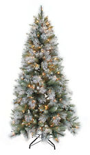 "7.5' x 54"" Slim Sterling Spruce Artificial Christmas Tree w/ 500 Clear Lights"