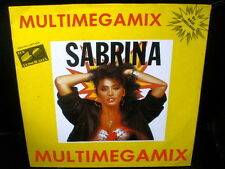 "12"" maxi single SABRINA multimegamix SPANISH rare PROMO 1988 4-tracks ITALO mix"