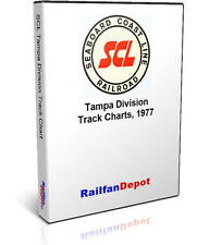 Seaboard Coast Line Tampa Division Track Chart 1977 - PDF on CD - RailfanDepot