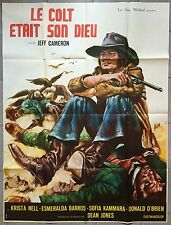 Affiche LE COLT ETAIT SON DIEU Joe D'Amato JEFF CAMERON Western 120x160cm
