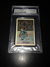 Bob Solinger Signed 1952-53 Parkhurst Card Maple Leafs PSA Slabbed #83703119