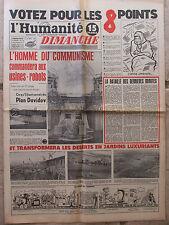 L'Humanité Dimanche (14 oct 1951) Plan Davidov - Foot France Suisse - Elections