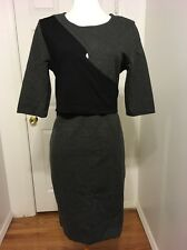 NWT Black and Gray DKNY Work Dress Size 12