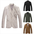 New Stylish Men's Casual Slim Fit Two Button Suit Blazer Coat Jackets 4 Color