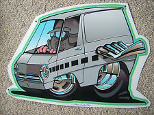 '64 - '70 Dodge A100 Van Tin Sign in Grey
