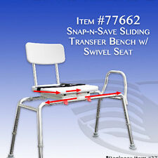 Eagle Healthcare 77662 Swivel Seat Sliding Bath Transfer Bench