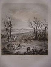 Grande gravure de la Prise de Dôle le 14 février 1668