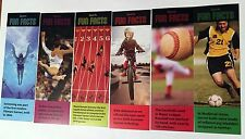 NEW! 24 SPORTS FUN FACTS BOOKMARKS PARTY FAVORS REWARDS BOOK CLUBS
